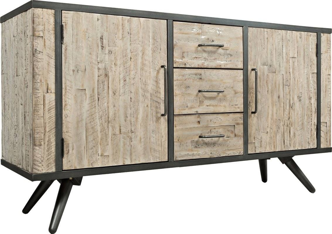 Union Rustic Shirlee Solid Wood Buffet Table & Reviews | Wayfair pertaining to Real Wood Sideboards (Image 28 of 30)