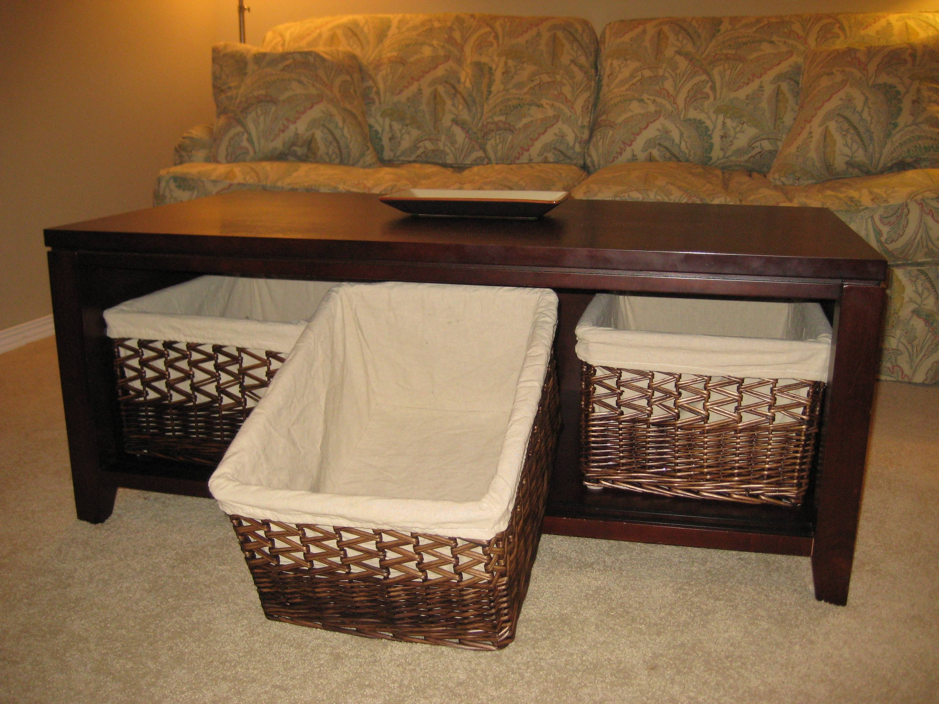 Union Square Wicker Basket Storage Black Coffee Table | Coffee for Coffee Table With Wicker Basket Storage (Image 23 of 30)