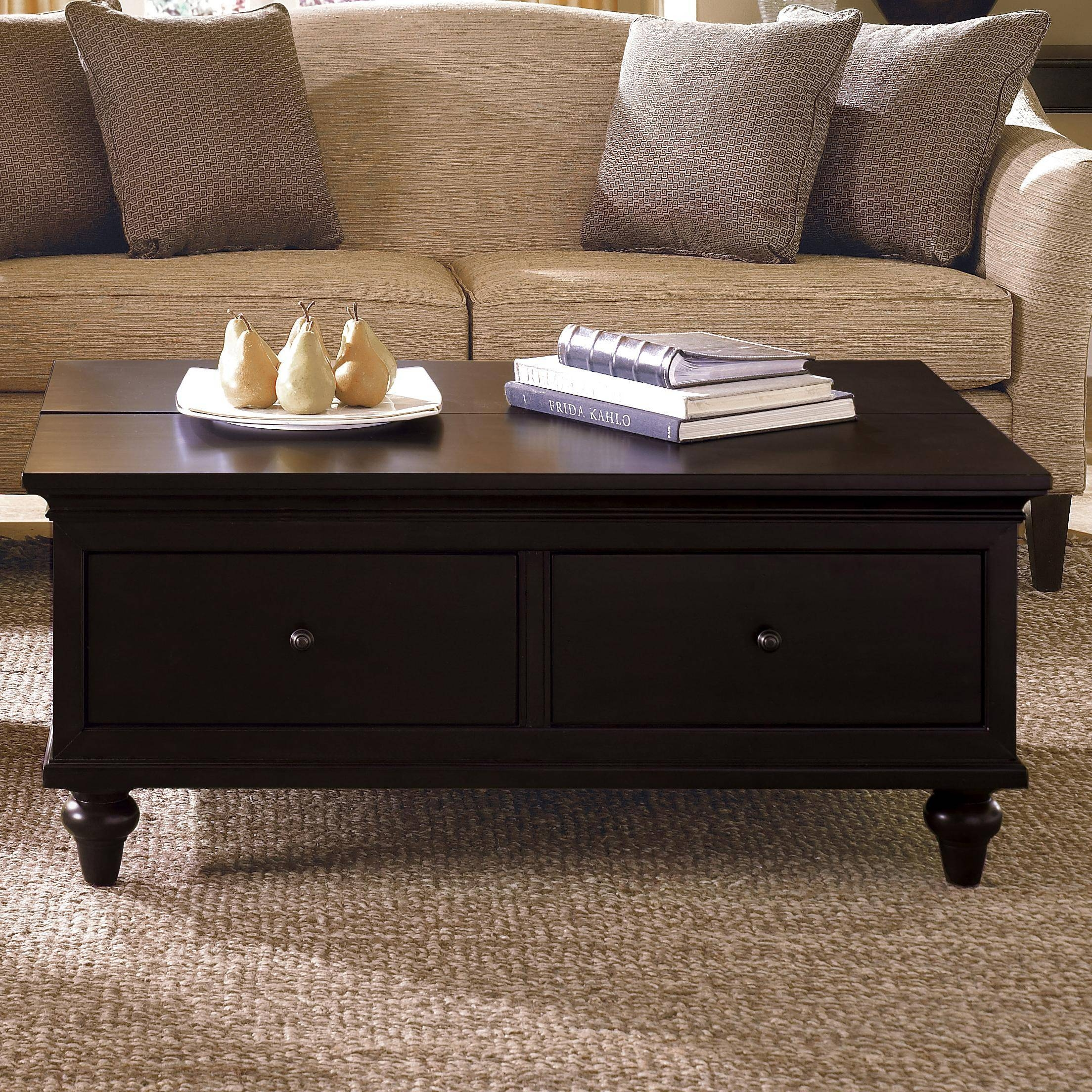 Union Square Wicker Basket Storage Black Coffee Table | Coffee in Coffee Table With Wicker Basket Storage (Image 24 of 30)