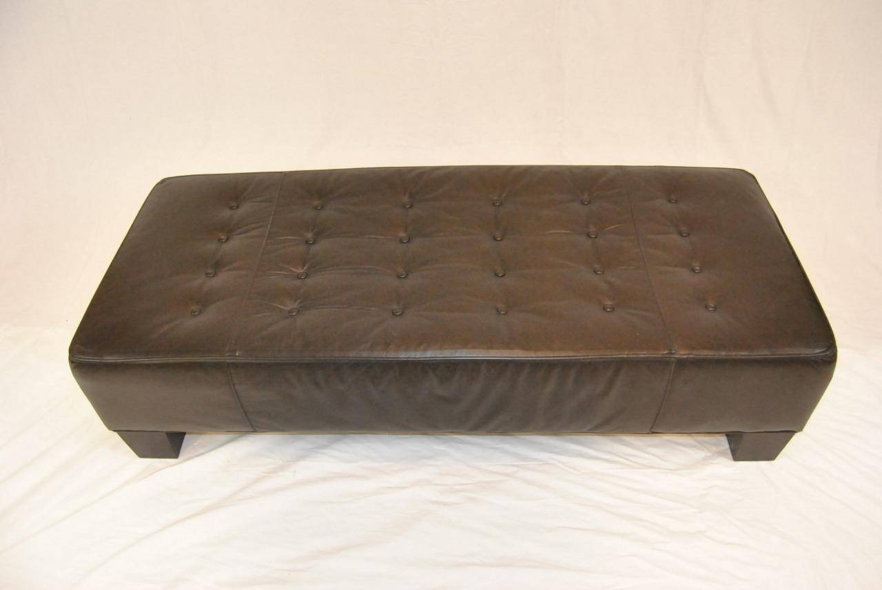 Unique And Creative Tufted Leather Ottoman Coffee Table Homesfeed for Coffee Table Footrests (Image 29 of 30)