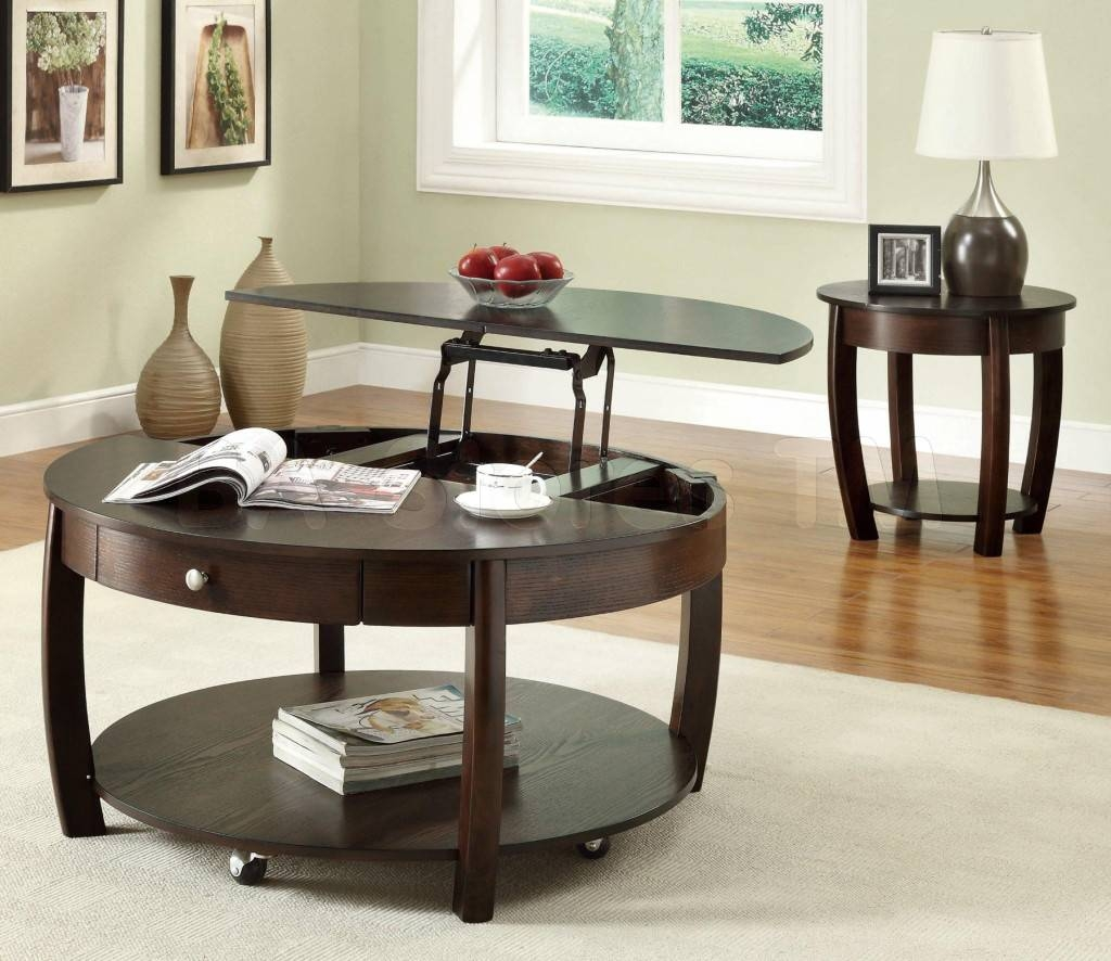 Unique Glass And Metal Coffee Table Round Ideas | Eva Furniture Regarding Small Circular Coffee Table (View 27 of 30)