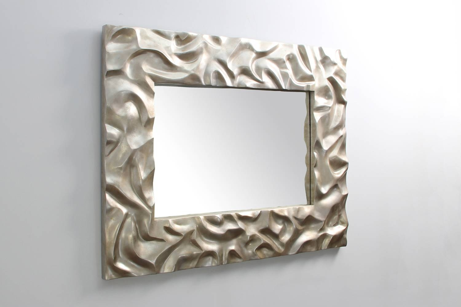 Unique Mirror Designs Gorgeous Unique And Stunning Wall Mirror with Modern Silver Mirrors (Image 23 of 25)