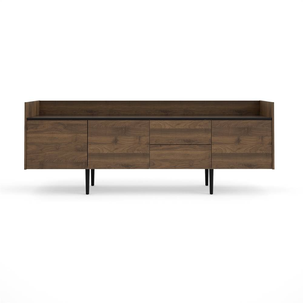 Unit 2 Drawer And 3 Door Sideboard, Walnut / Black in Walnut And Black Sideboards (Image 27 of 30)