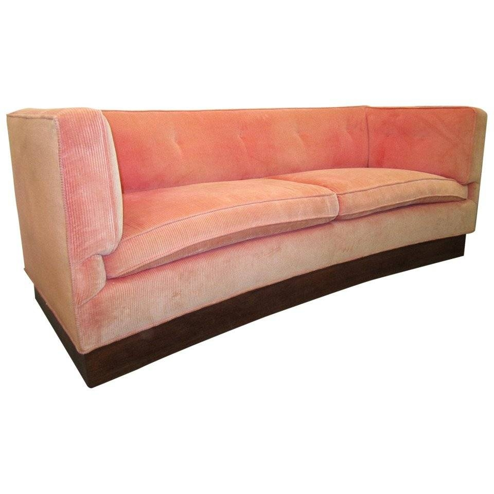 Unusual Harvey Probber Style Curved Sofa Plinth Base Mid-Century inside Unusual Sofa (Image 20 of 23)