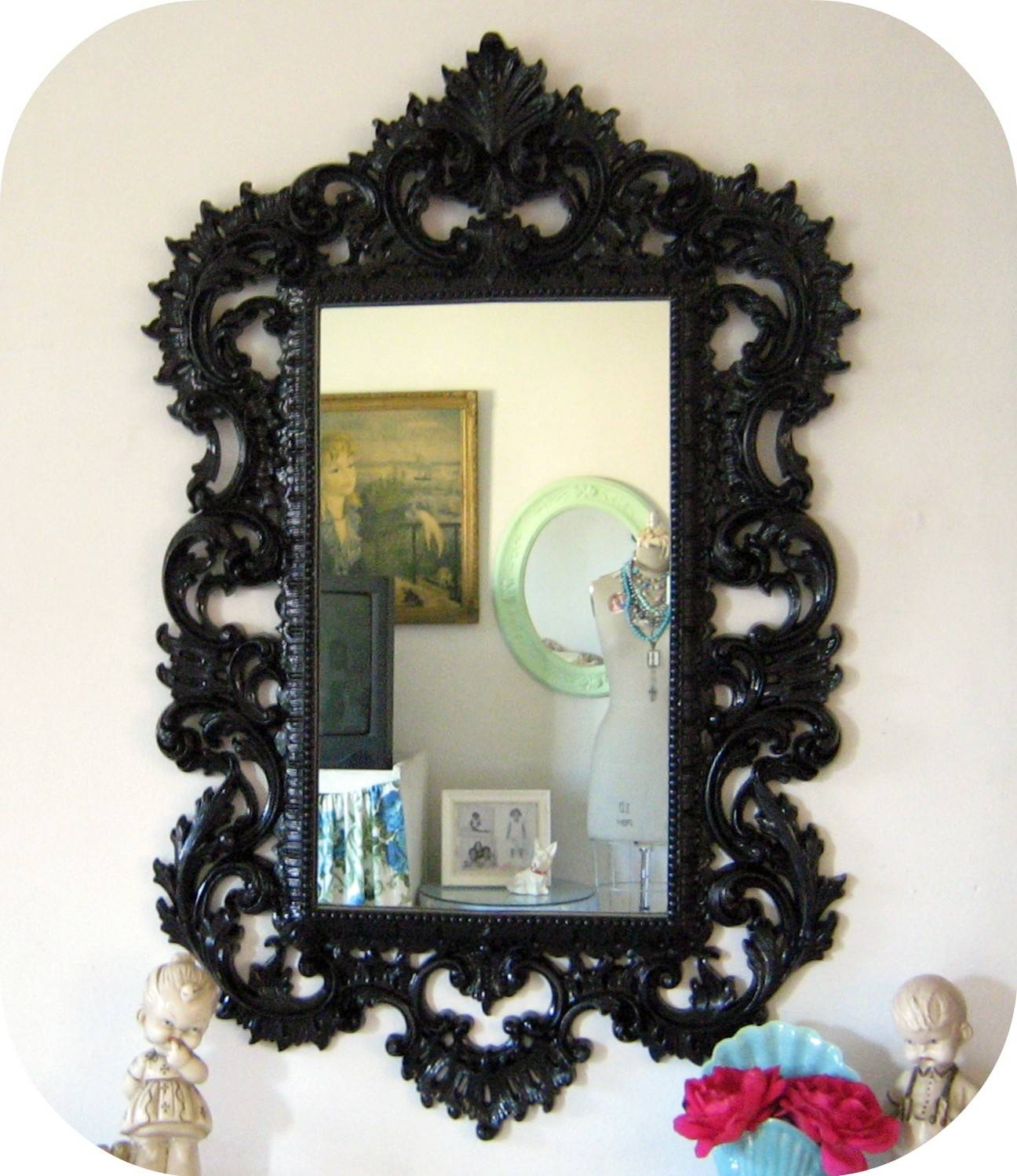 Featured Photo of Black Baroque Mirrors