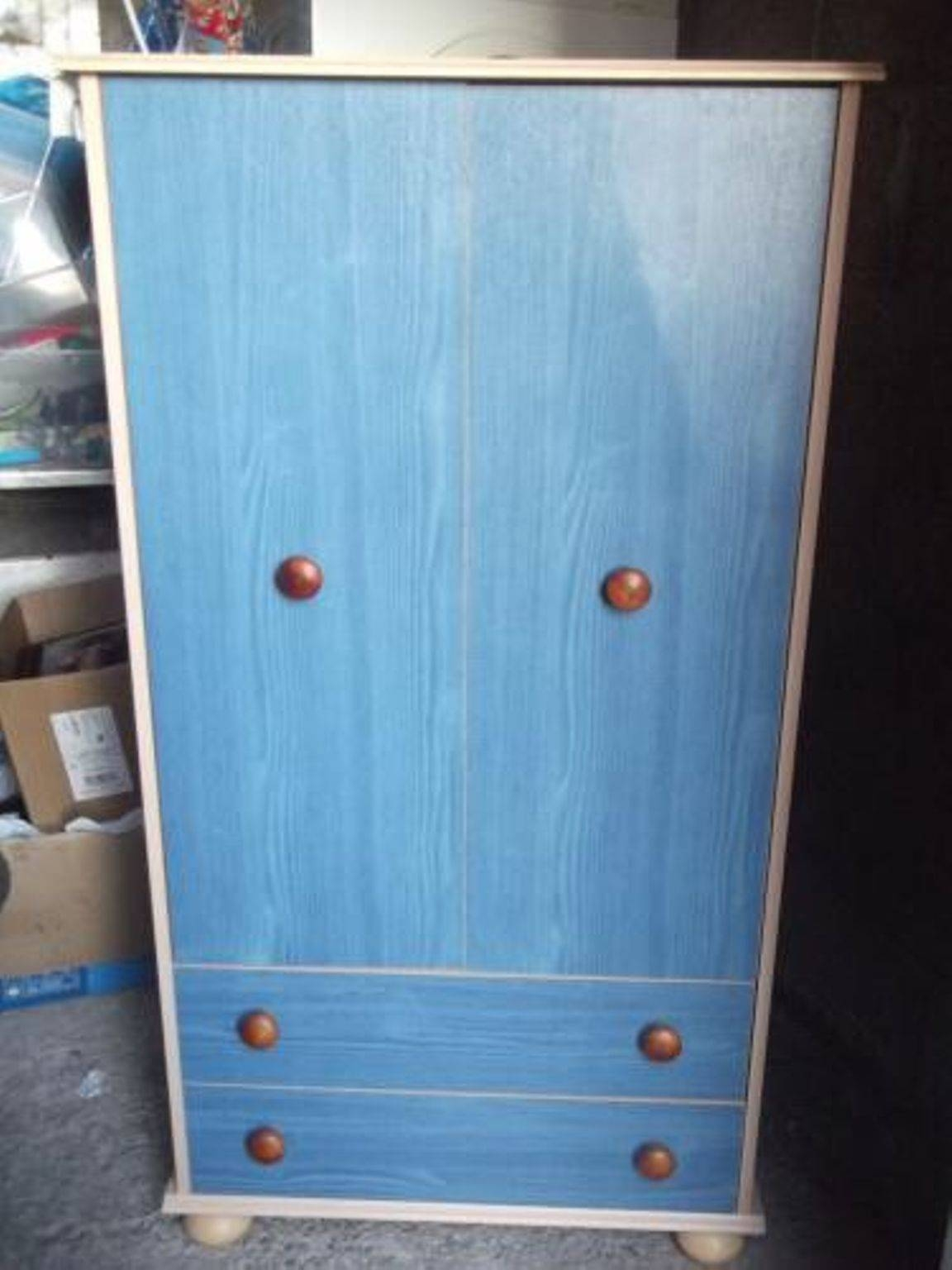 Used Children's Argos Blue/pine Bedroom Furniture In Bl8 Bury For within Childrens Tallboy Wardrobes (Image 13 of 15)