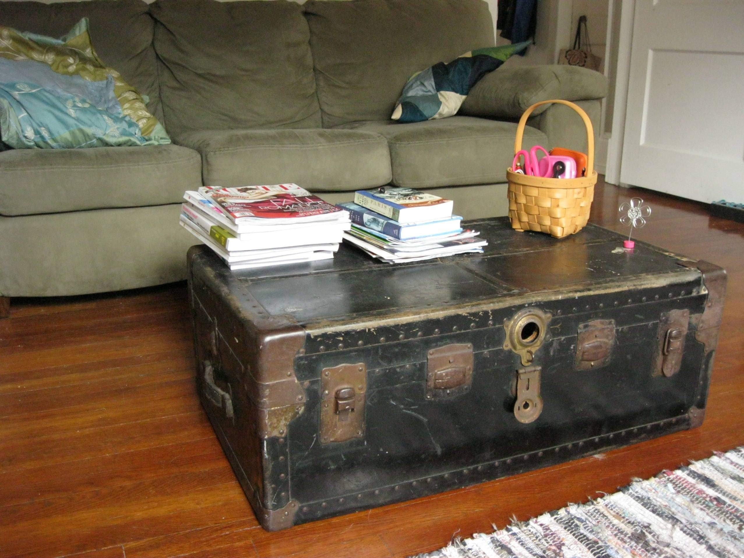 Using A Trunk As A Coffee Table | Coffee Tables Decoration pertaining to Steamer Trunk Stainless Steel Coffee Tables (Image 26 of 30)
