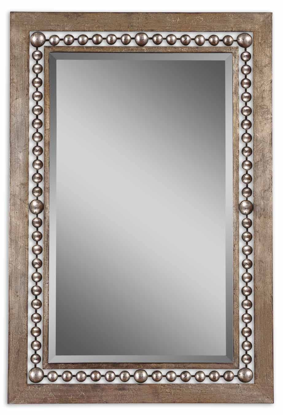 Uttermost Fidda Antique Silver Mirror 13724 with Silver Antique Mirrors (Image 23 of 25)