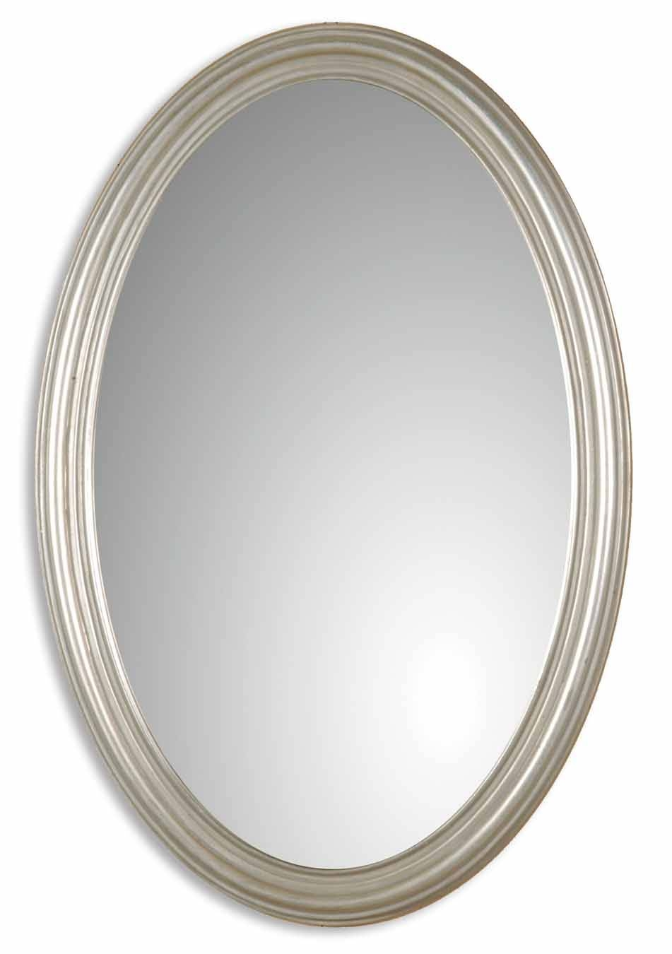 Uttermost Franklin Oval Silver Mirror 08601 P for Silver Oval Mirrors (Image 24 of 25)