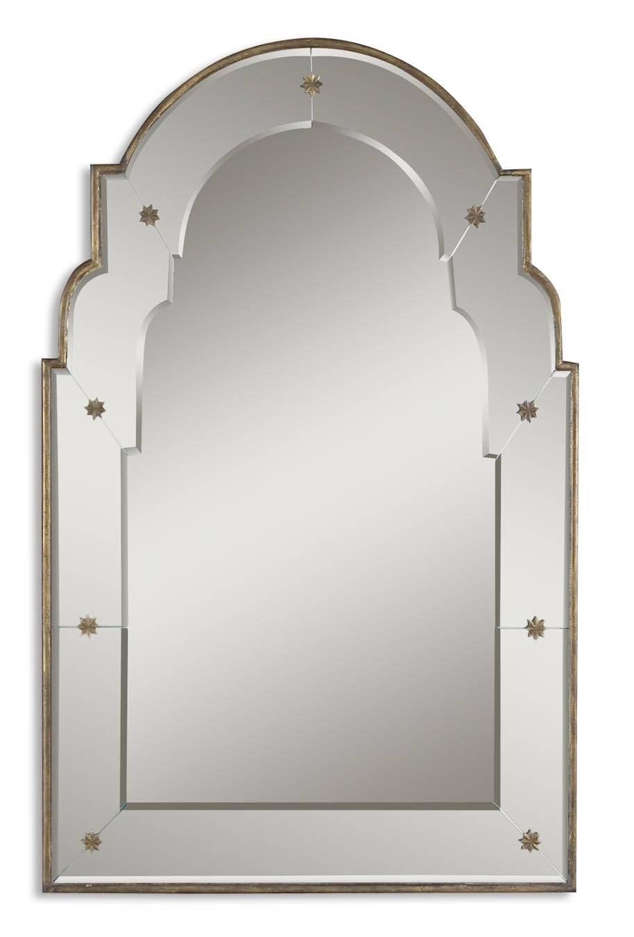 Uttermost Gella Small Arched Mirror 12595 B within Gold Arch Mirrors (Image 23 of 25)