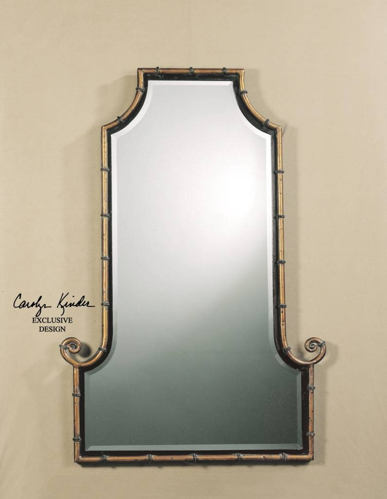 Uttermost Himalaya Iron Bamboo Mirror 10770 B with regard to Gold Arch Mirrors (Image 24 of 25)