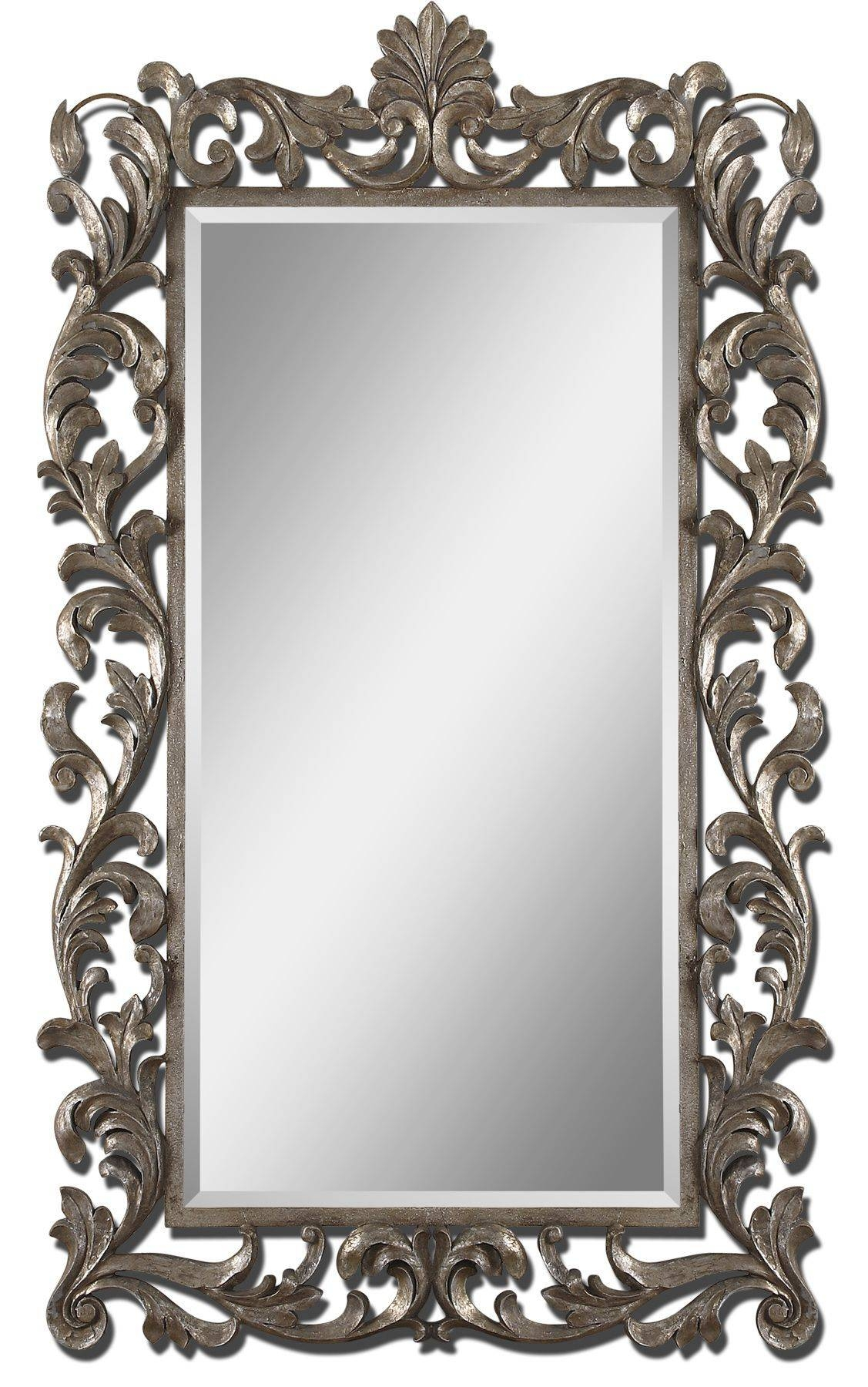 Uttermost Molise Large Silver Mirror 12824 for Large Ornate Silver Mirrors (Image 25 of 25)