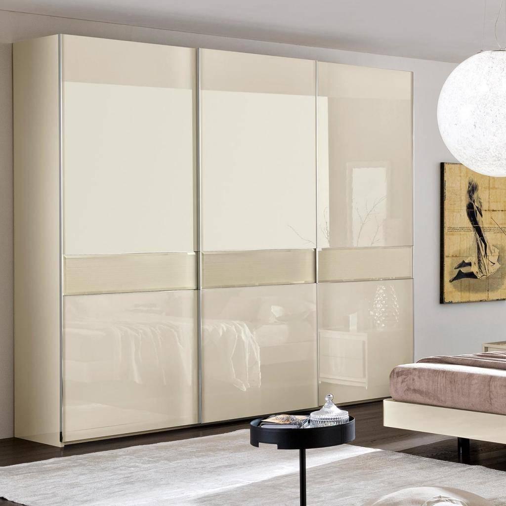 Valdina Linea 3Dr Sliding Cream High Gloss Wardrobe   Ebay intended for Cream Gloss Wardrobes Doors (Image 14 of 15)