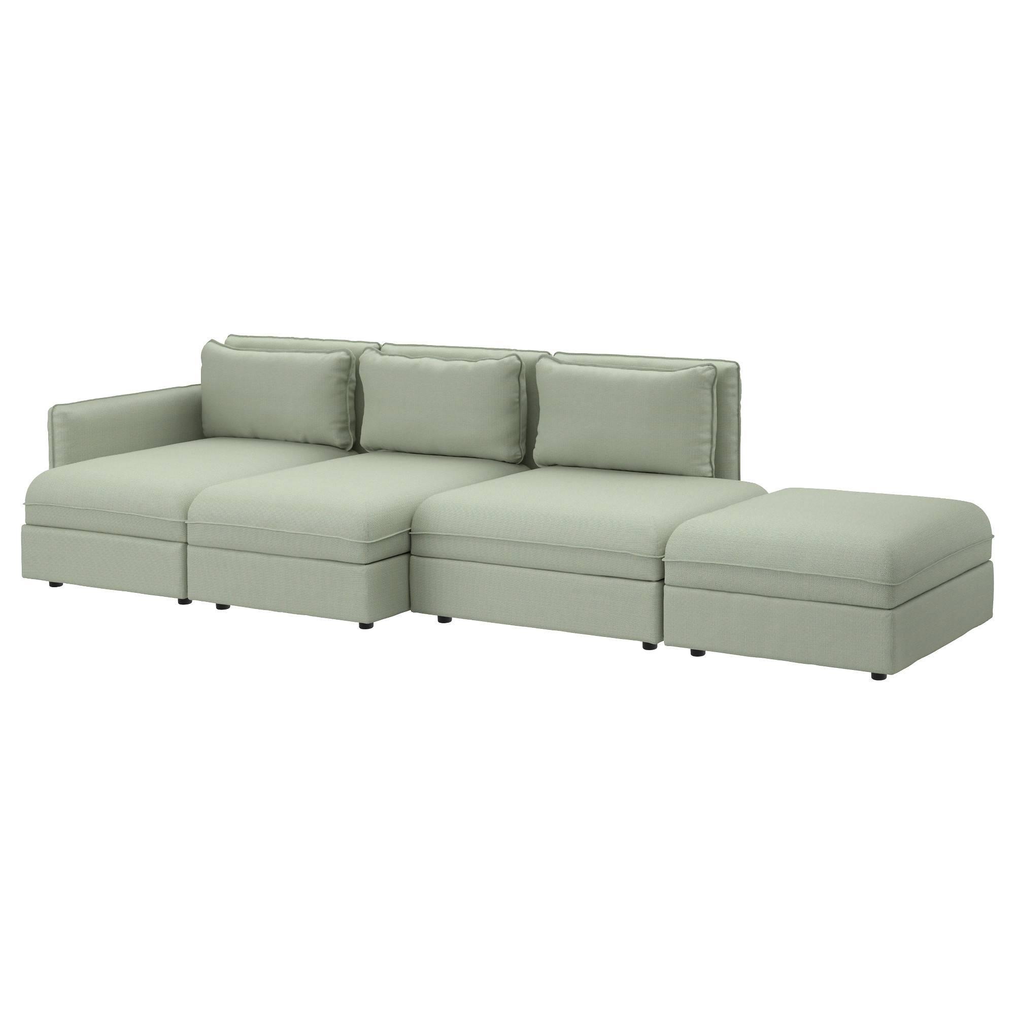 Vallentuna 4-Seat Sofa Hillared Green - Ikea regarding 4 Seat Sofas (Image 28 of 30)