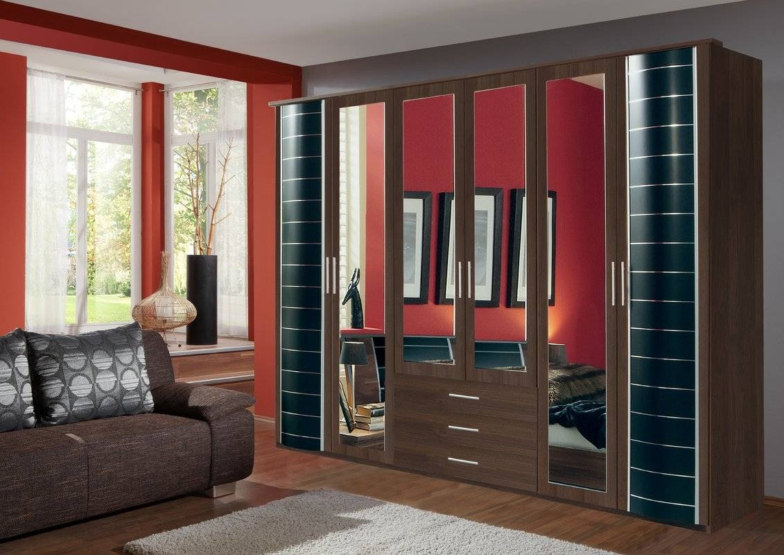 Varick Gallery Godoy 6 Door Wardrobe & Reviews | Wayfair.co.uk regarding 6 Door Wardrobes (Image 12 of 15)