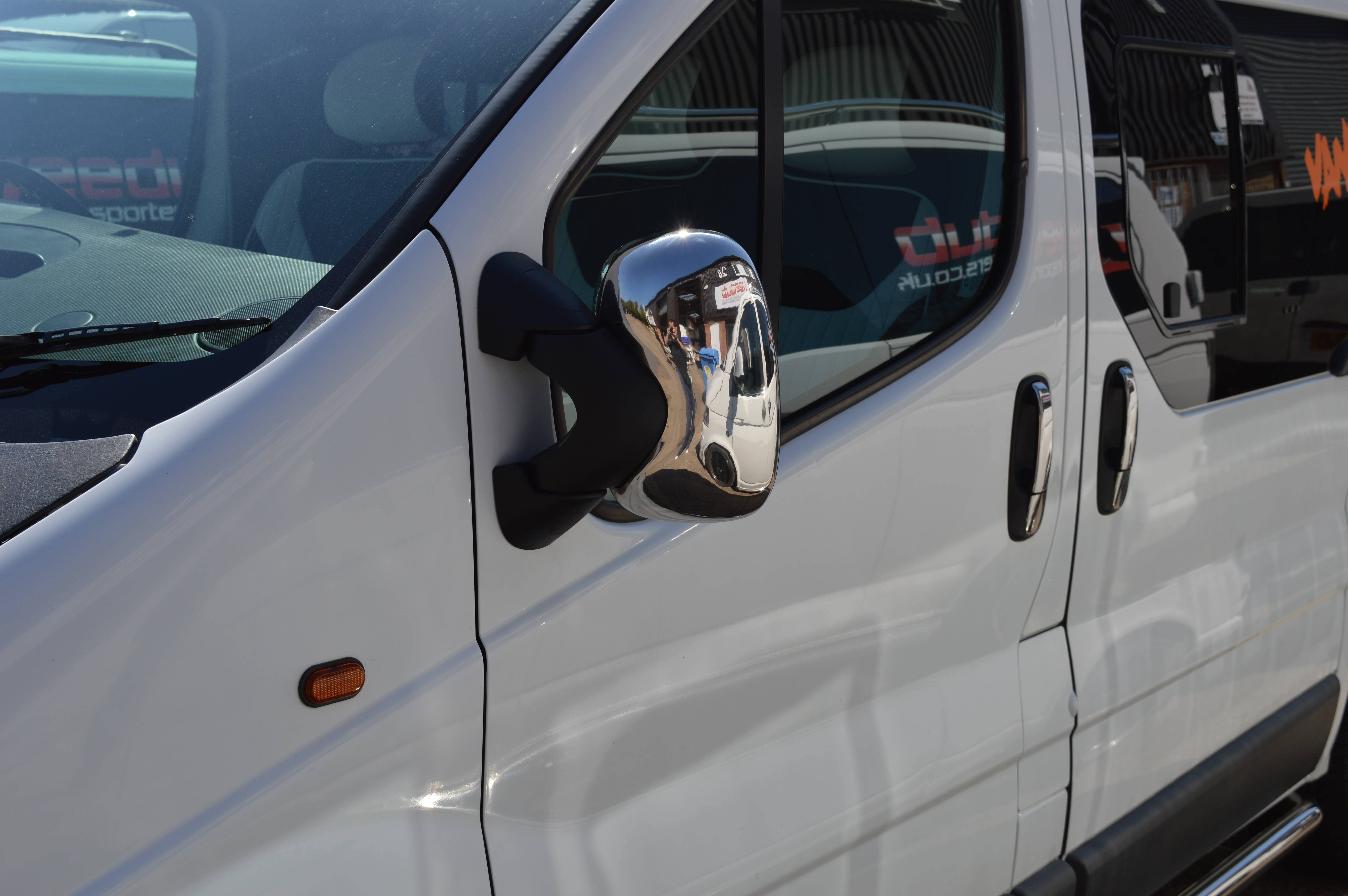 Vauxhall Vivaro Chrome Wing Mirror Covers - Vanpimps with Chrome Mirrors (Image 25 of 25)