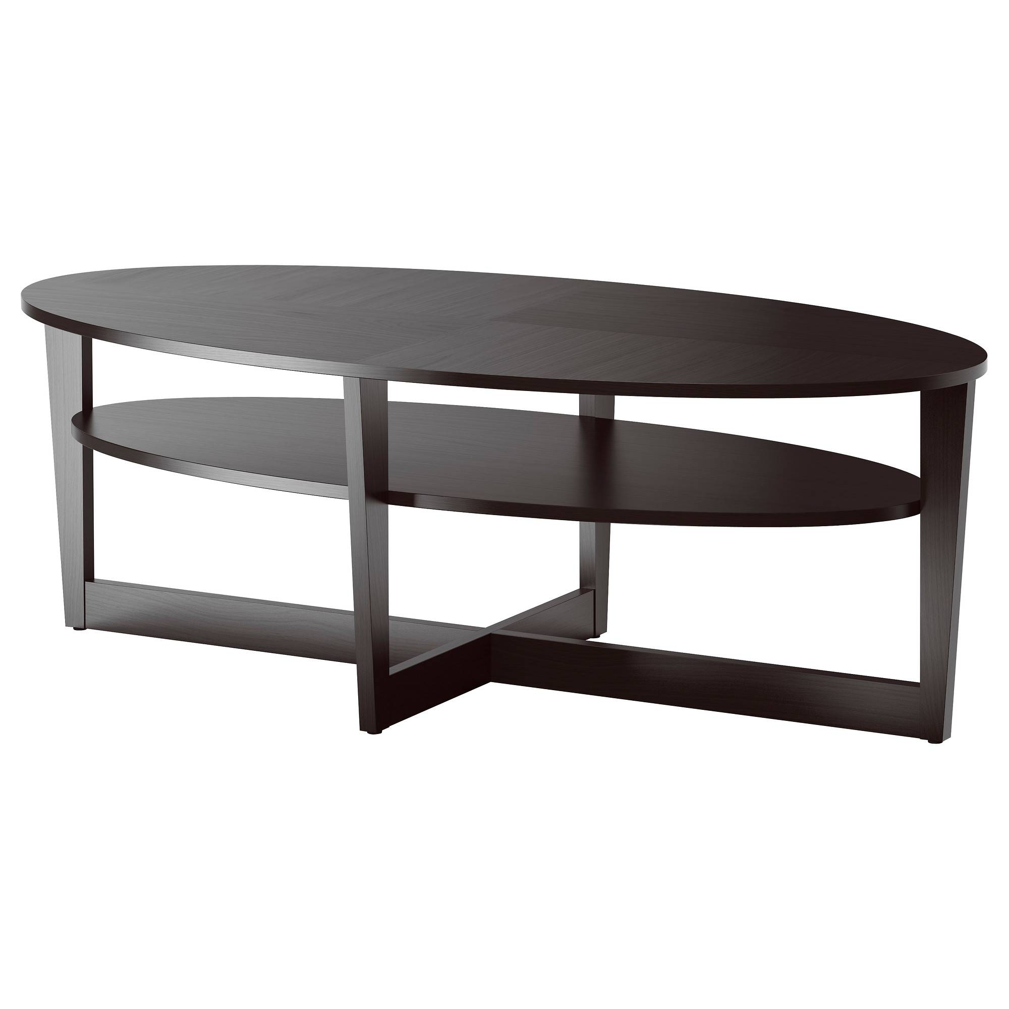 Vejmon Coffee Table - Brown - Ikea intended for Black Oval Coffee Tables (Image 30 of 30)