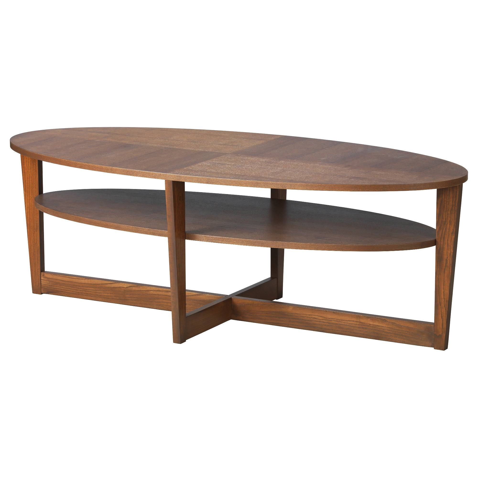 Vejmon Coffee Table – Brown – Ikea Regarding Coffee Table Rounded Corners (View 26 of 30)