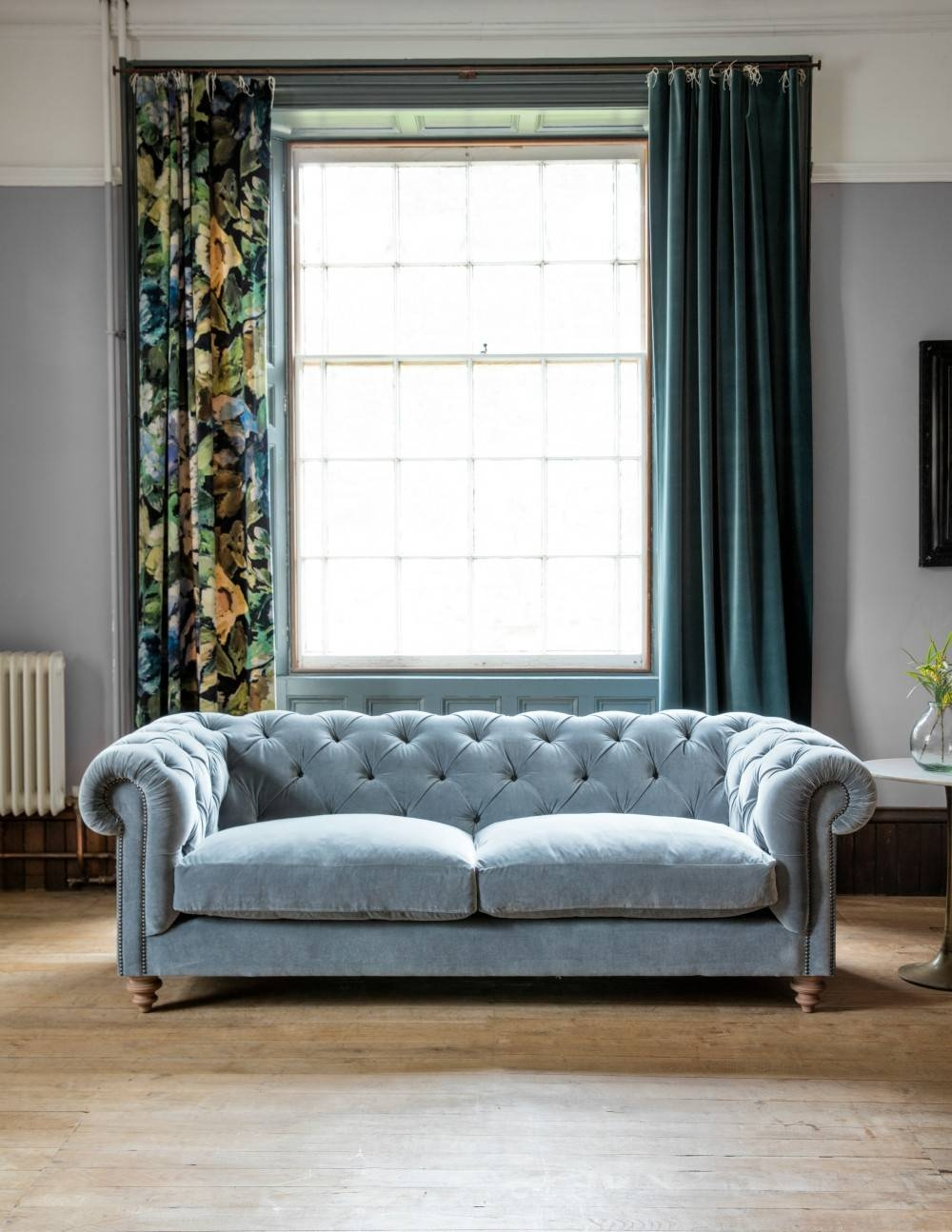 Velvet Chesterfield Sofarose & Grey With Chesterfield Sofas (View 30 of 30)