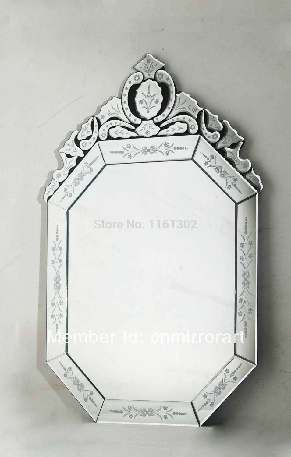 Venetian Frameless Floor Mirror | Vanity And Nightstand Decoration throughout Venetian Tray Mirrors (Image 20 of 25)