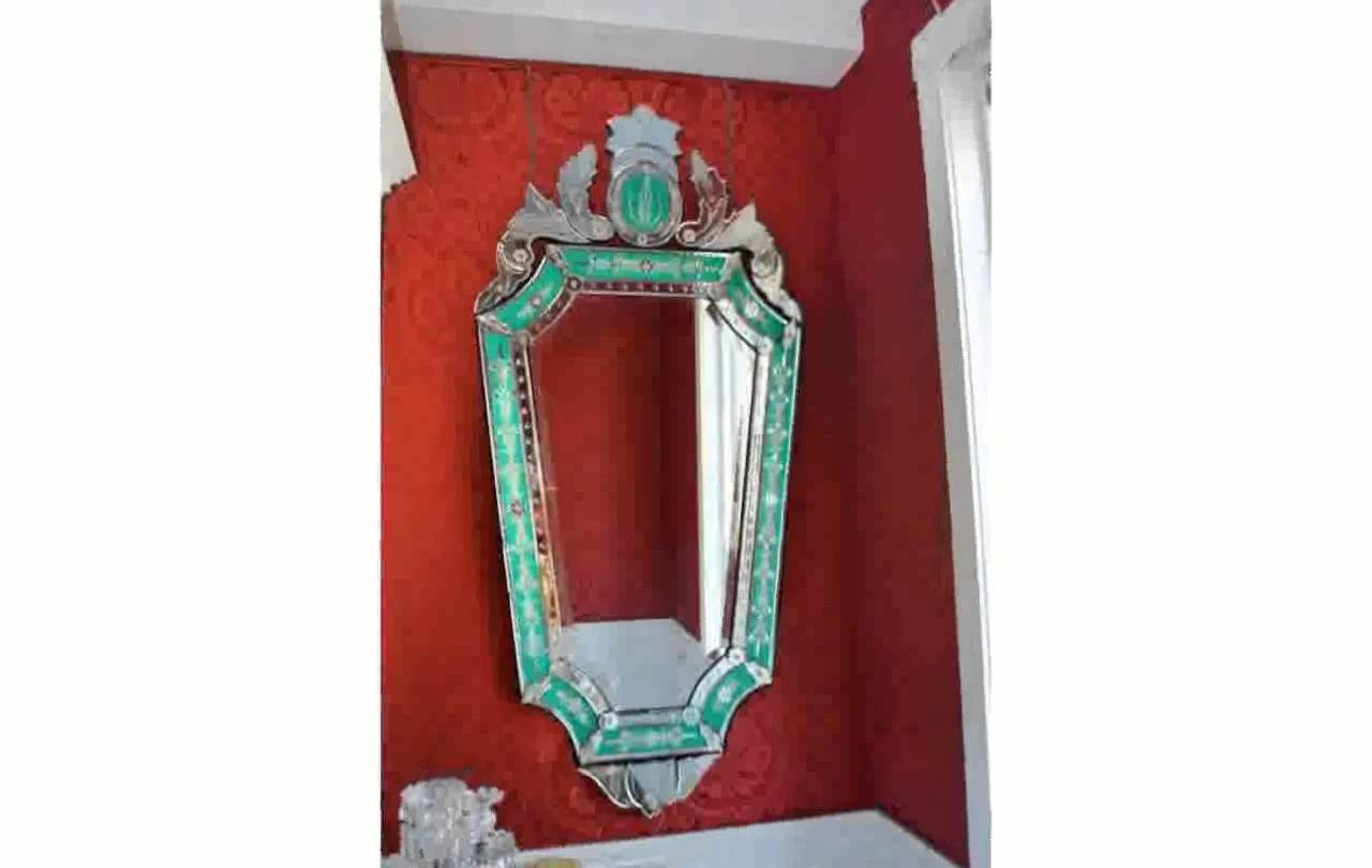 Venetian Glass Mirror - Youtube within Antique Venetian Glass Mirrors (Image 22 of 25)