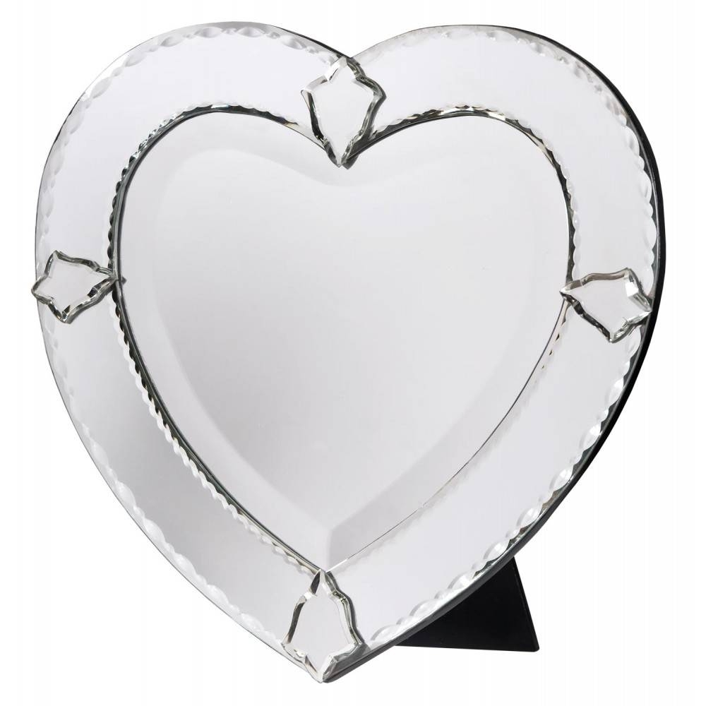 Venetian Heart Shaped Bevelled Decorative Table Or Wall Bedroom within Venetian Heart Mirrors (Image 25 of 25)