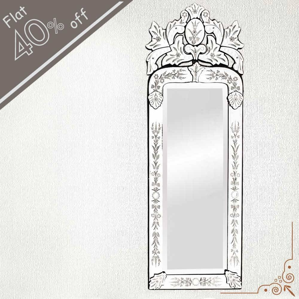 Venetian Mirror-46.5 Inches X 16 Inches intended for Long Venetian Mirrors (Image 19 of 25)
