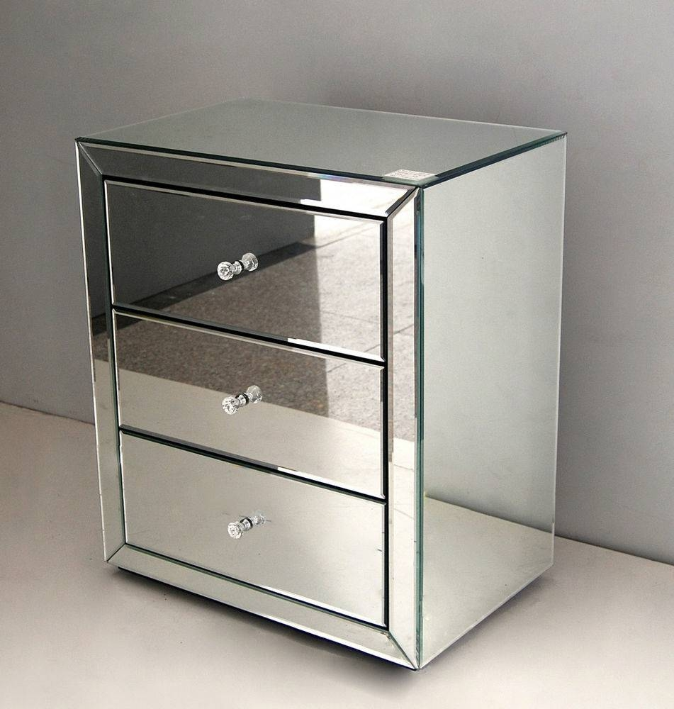 Venetian Mirror Bedside Tables With Drawers - Surripui with regard to Venetian Table Mirrors (Image 23 of 25)