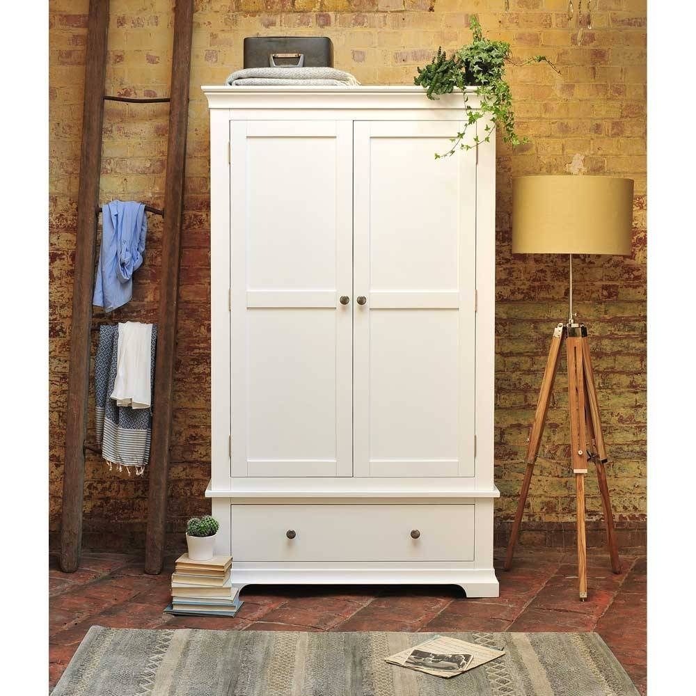 Venice White Double Wardrobe Including Free Delivery (1041.001 within White Pine Wardrobes (Image 14 of 15)