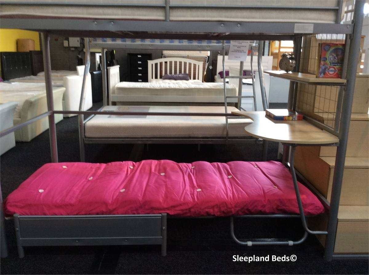 Venus Luxury High Sleeper Bunk Bed | Sleepland Beds within High Sleeper With Wardrobes and Futon (Image 14 of 15)