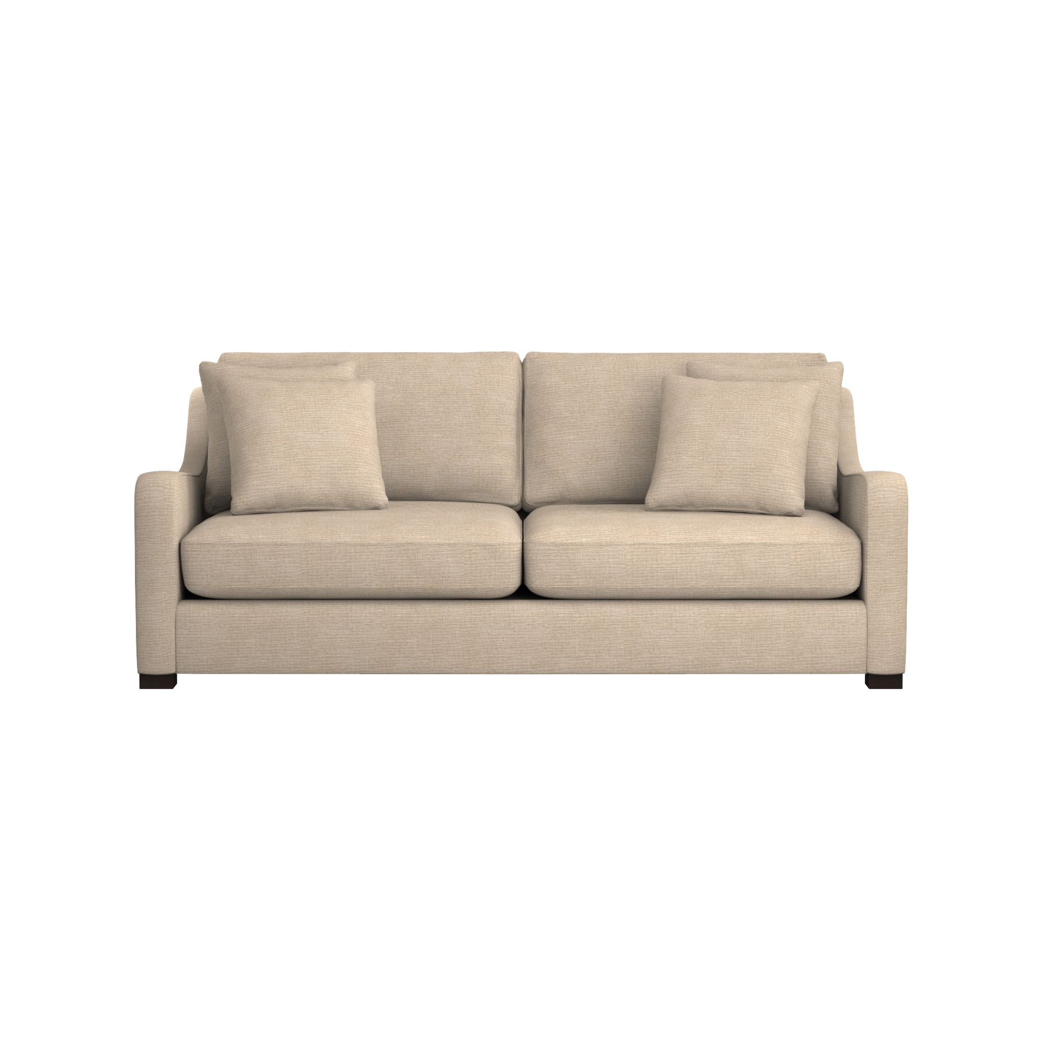 Verano Cream Sofa | Crate And Barrel throughout Down Filled Sectional Sofa (Image 25 of 25)