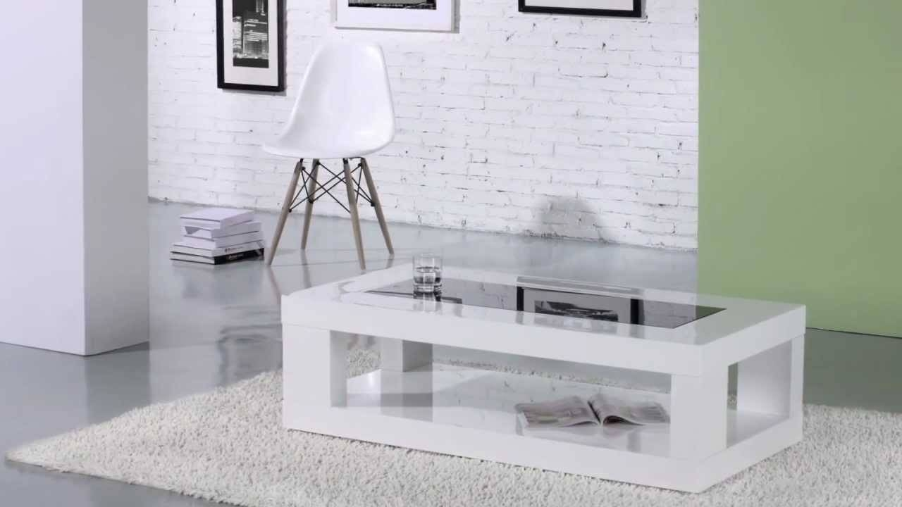 Verona Coffee Table With Glass Inset In White Gloss - Youtube regarding Verona Coffee Tables (Image 20 of 30)