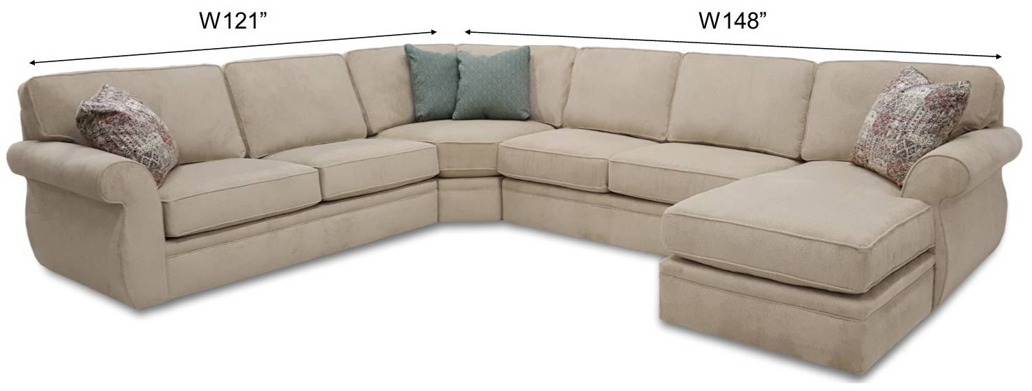 Veronica Sectional - Frontroom Furnishings regarding Broyhill Sectional Sofa (Image 29 of 30)
