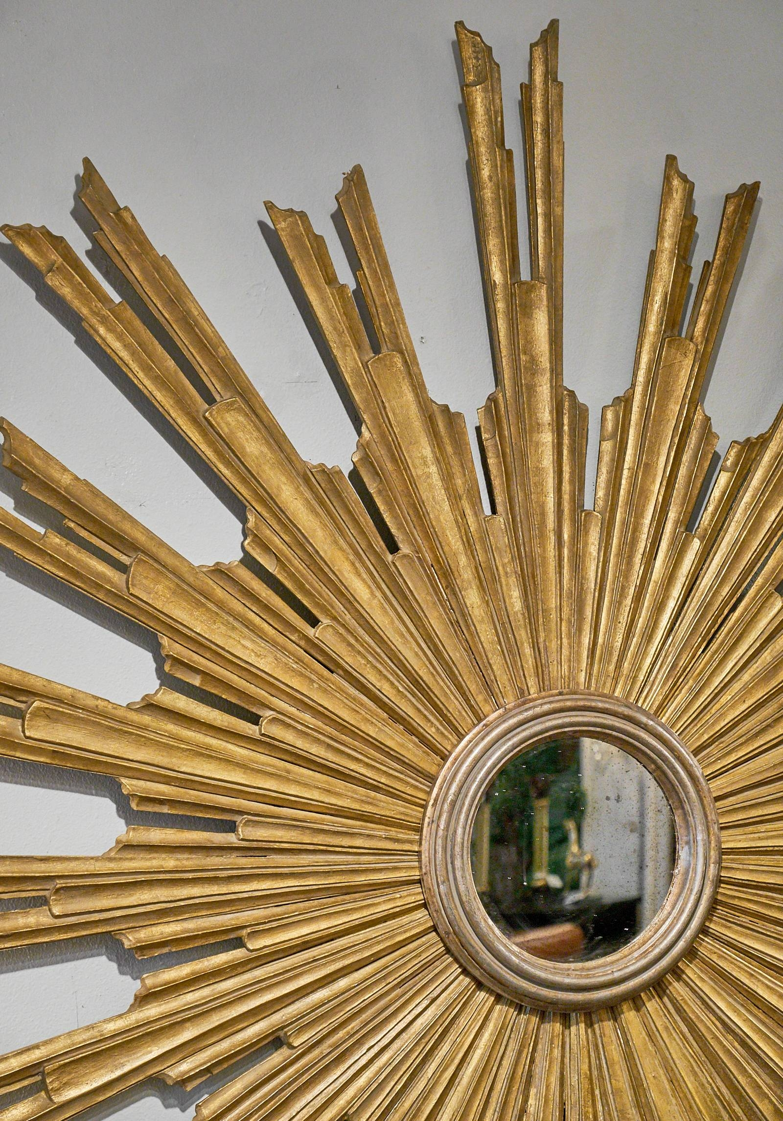 Very Large Antique Tuscan Sunburst Mirror - Jean Marc Fray within Large Sunburst Mirrors (Image 23 of 25)