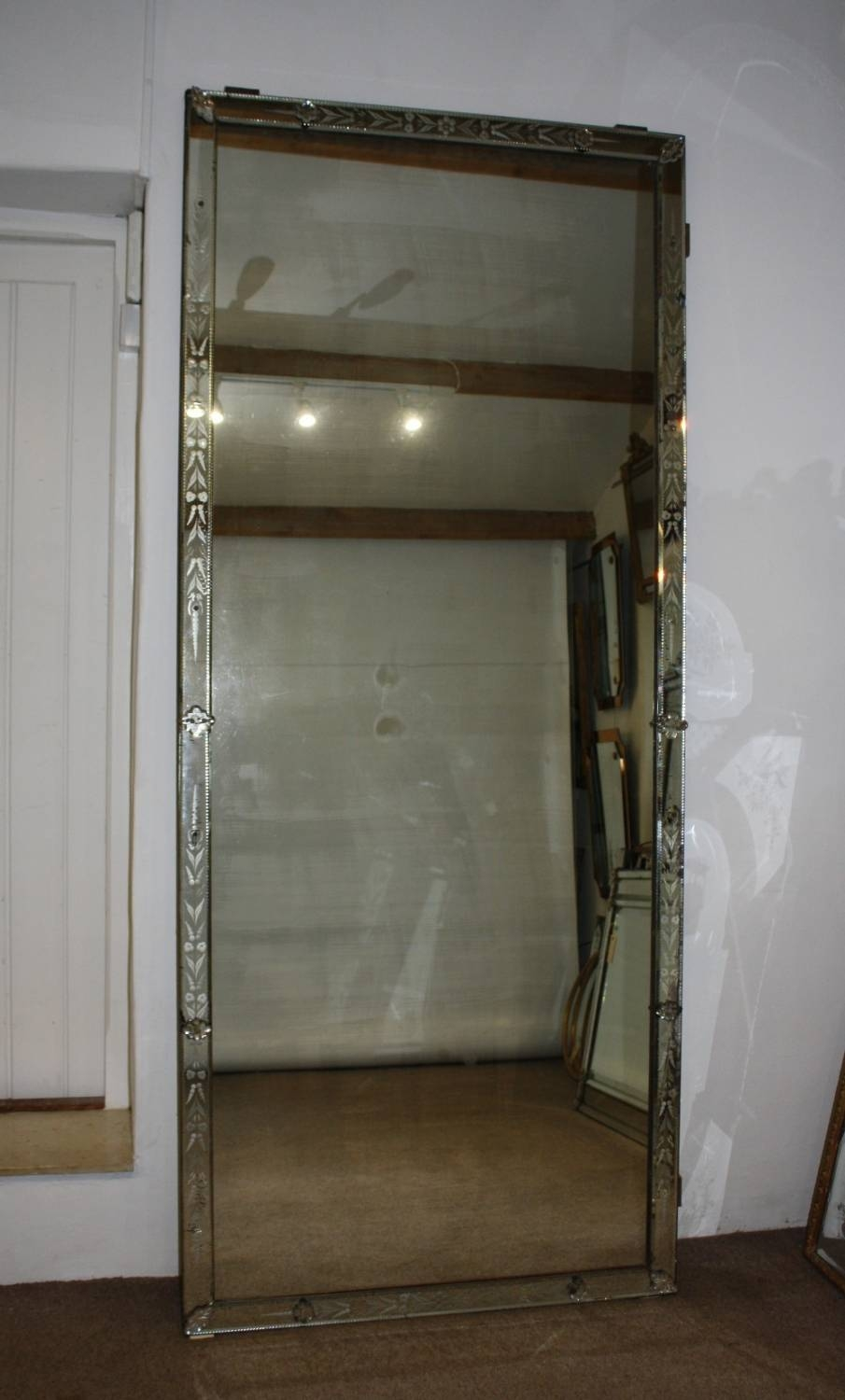 Very Tall Vintage Venetian Mirror with Tall Venetian Mirrors (Image 24 of 25)