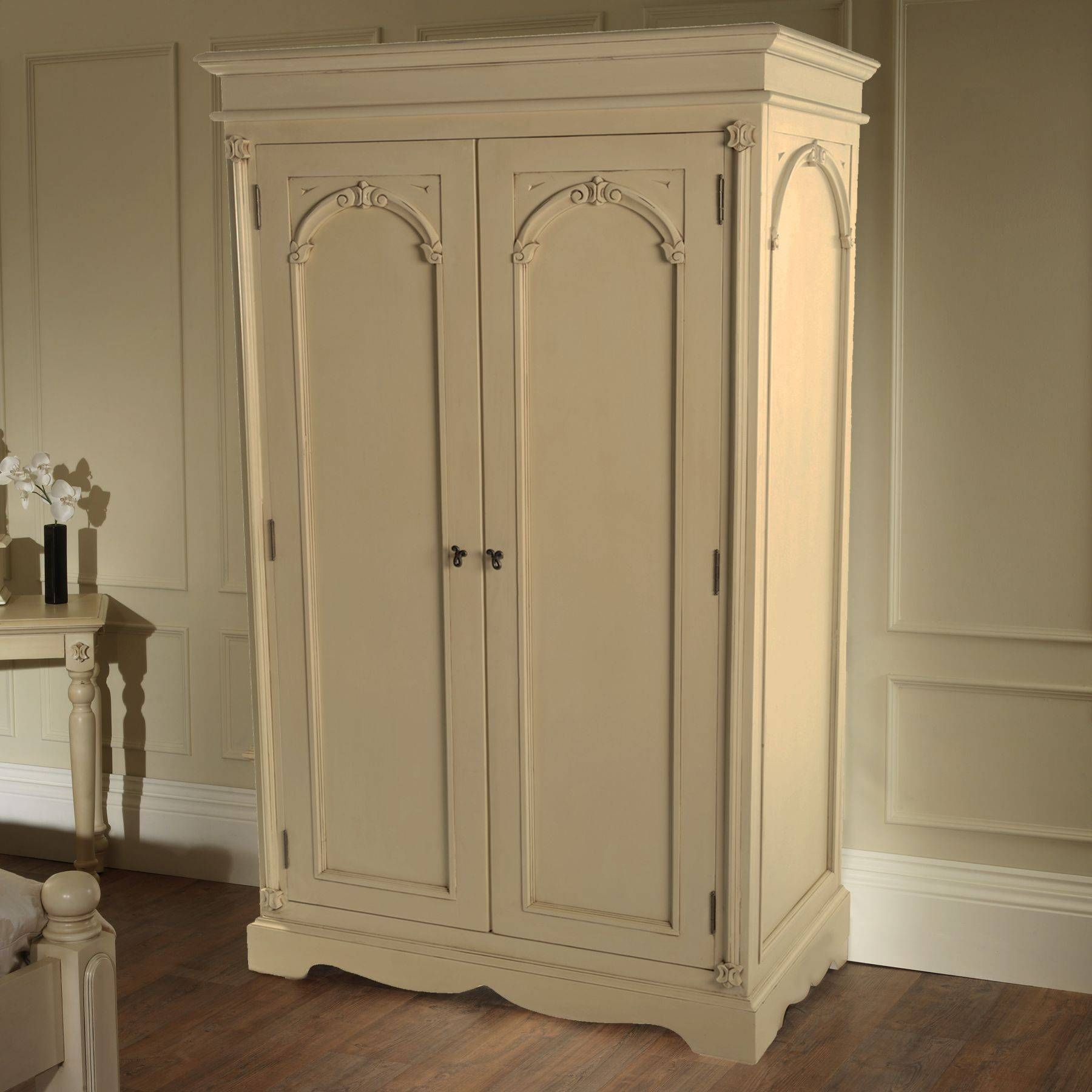 Victorian Antique French Wardrobe Working Well Alongside Our within French Shabby Chic Wardrobes (Image 15 of 15)