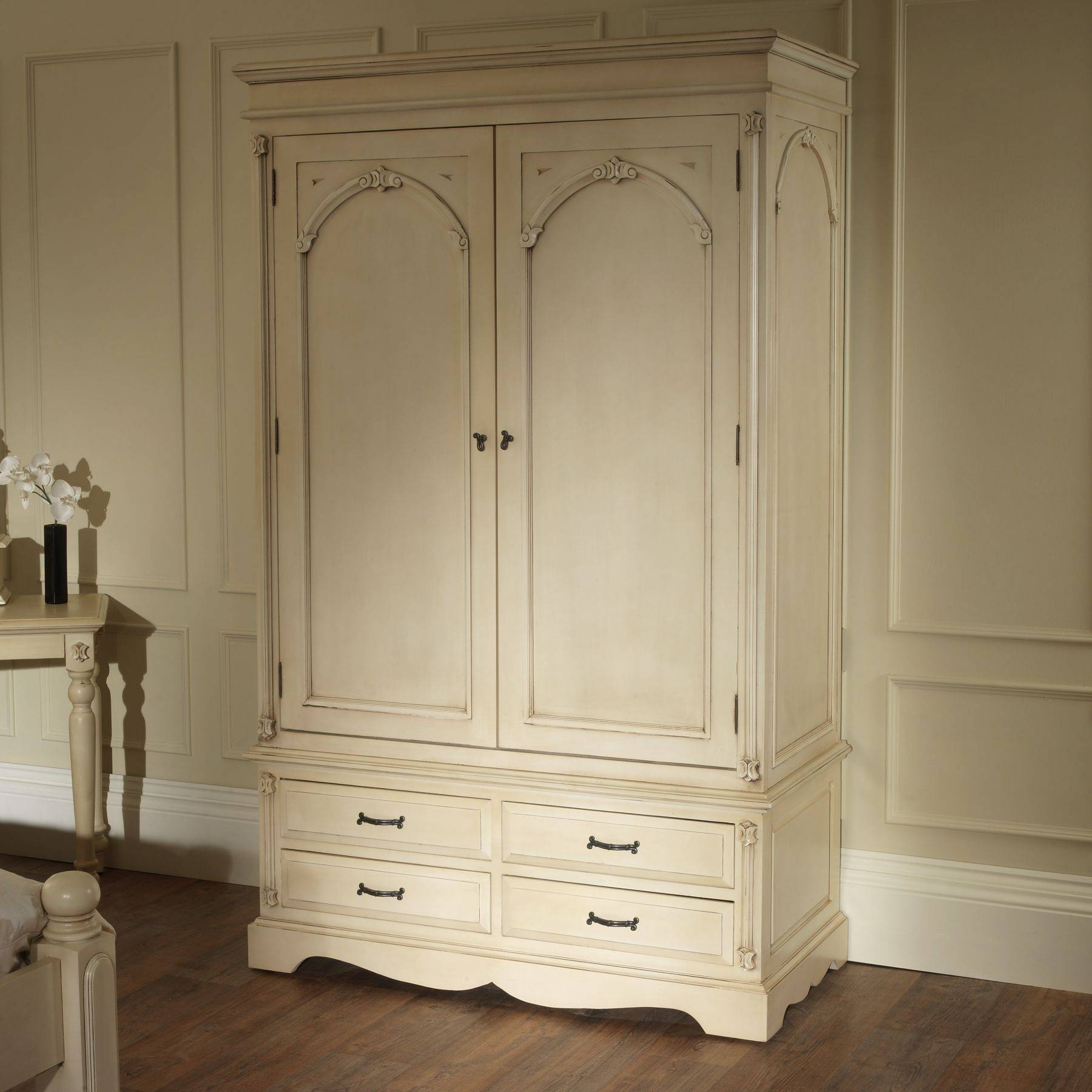 Victorian Antique French Wardrobe Works Well Alongside Our Shabby within Victorian Wardrobes (Image 7 of 15)