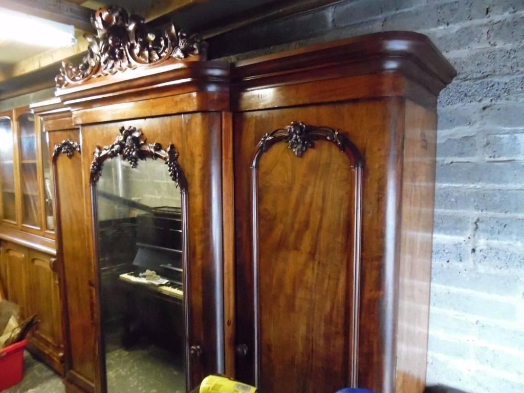 Victorian Breakfront Wardrobe | In Newcastle, County Down | Gumtree in Victorian Breakfront Wardrobe (Image 15 of 30)