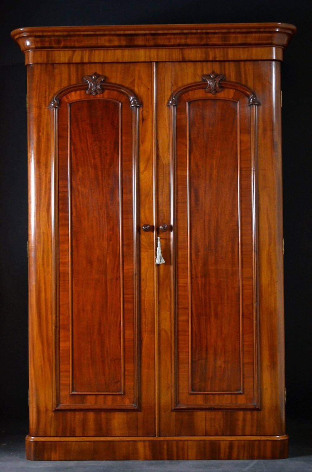 Victorian Double Wardrobe - Mahogany Wardrobe - Antiques Atlas intended for Victorian Wardrobes For Sale (Image 12 of 15)