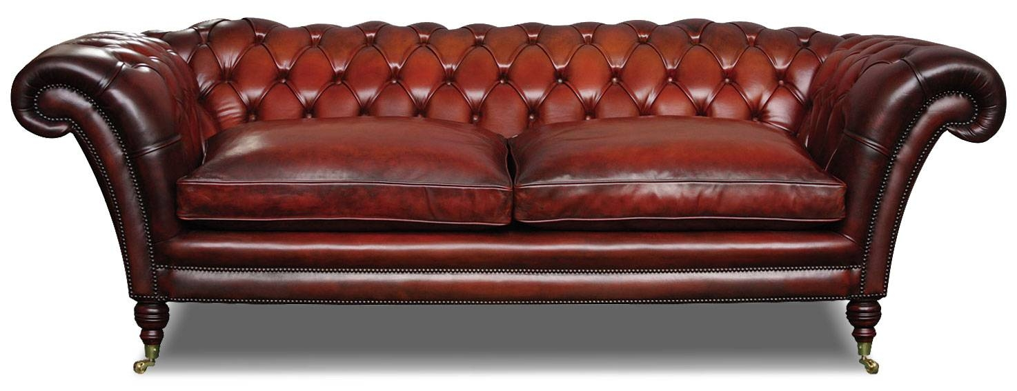 Victorian Leather Chesterfield 3 Seat Sofa In Hand Dyed Hide inside Victorian Leather Sofas (Image 27 of 30)