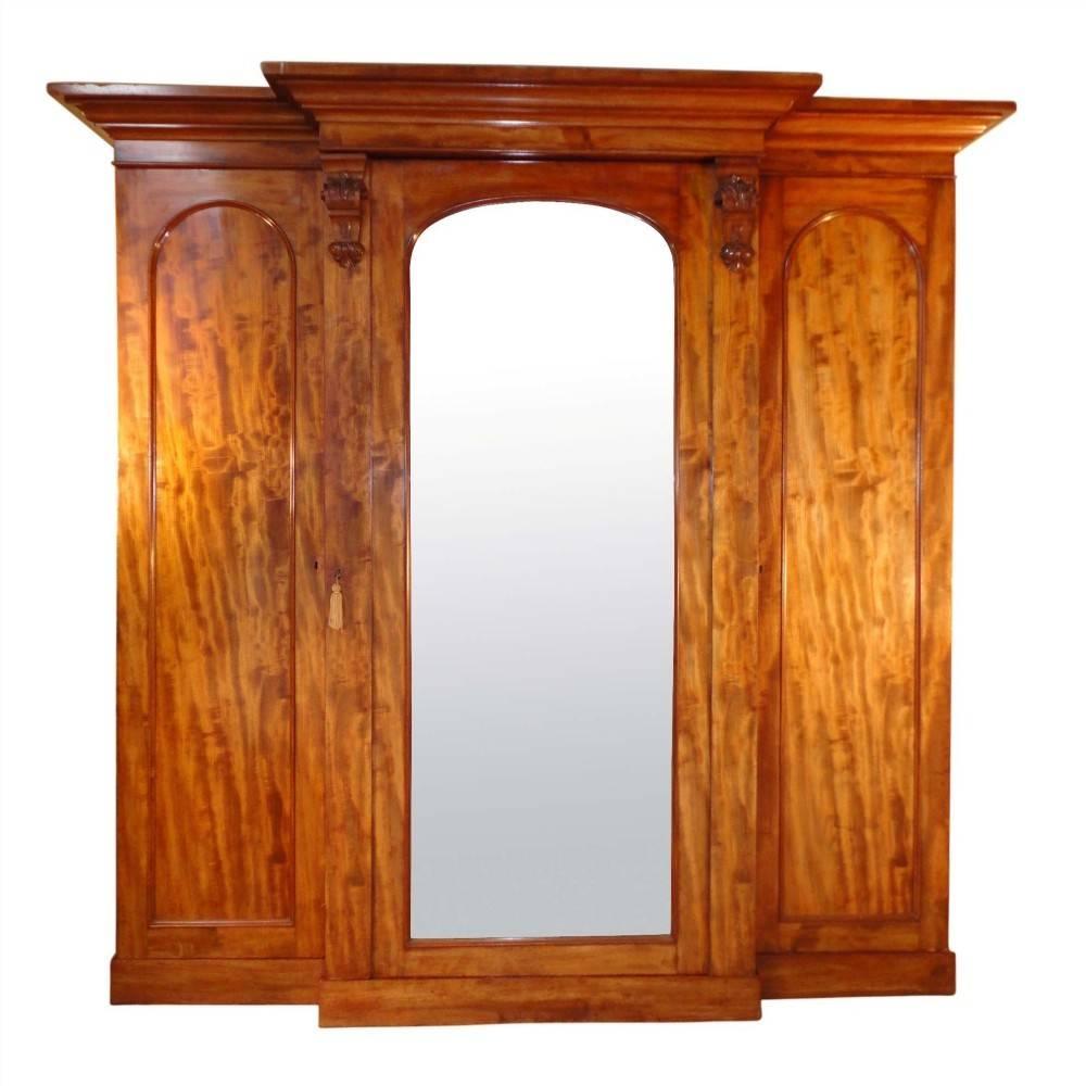Victorian Mahogany Breakfront Wardrobe | 241817 | Sellingantiques for Mahogany Breakfront Wardrobe (Image 20 of 30)