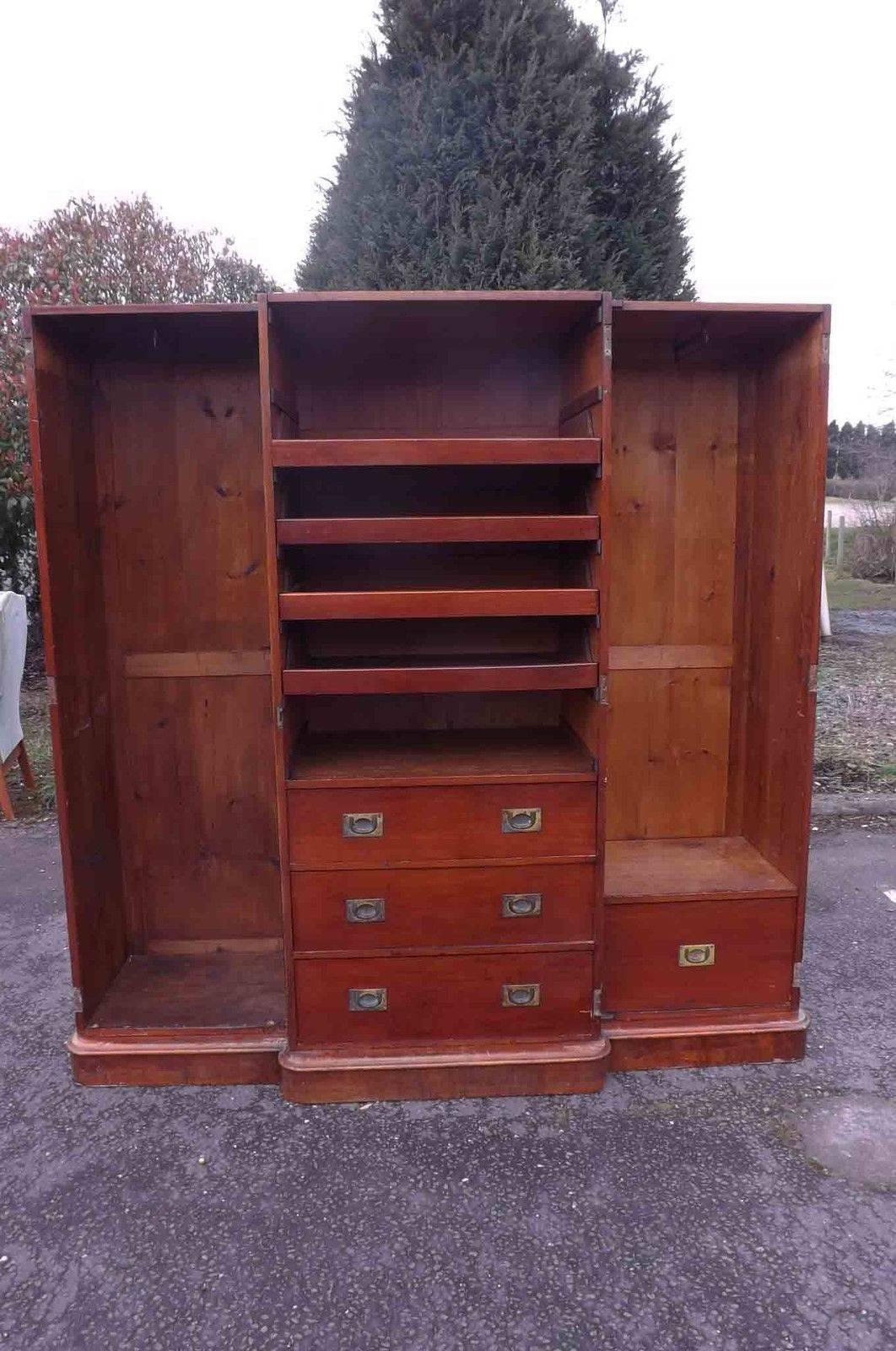 Victorian Mahogany Breakfront Wardrobe For Sale   Antiques with Mahogany Breakfront Wardrobe (Image 17 of 30)
