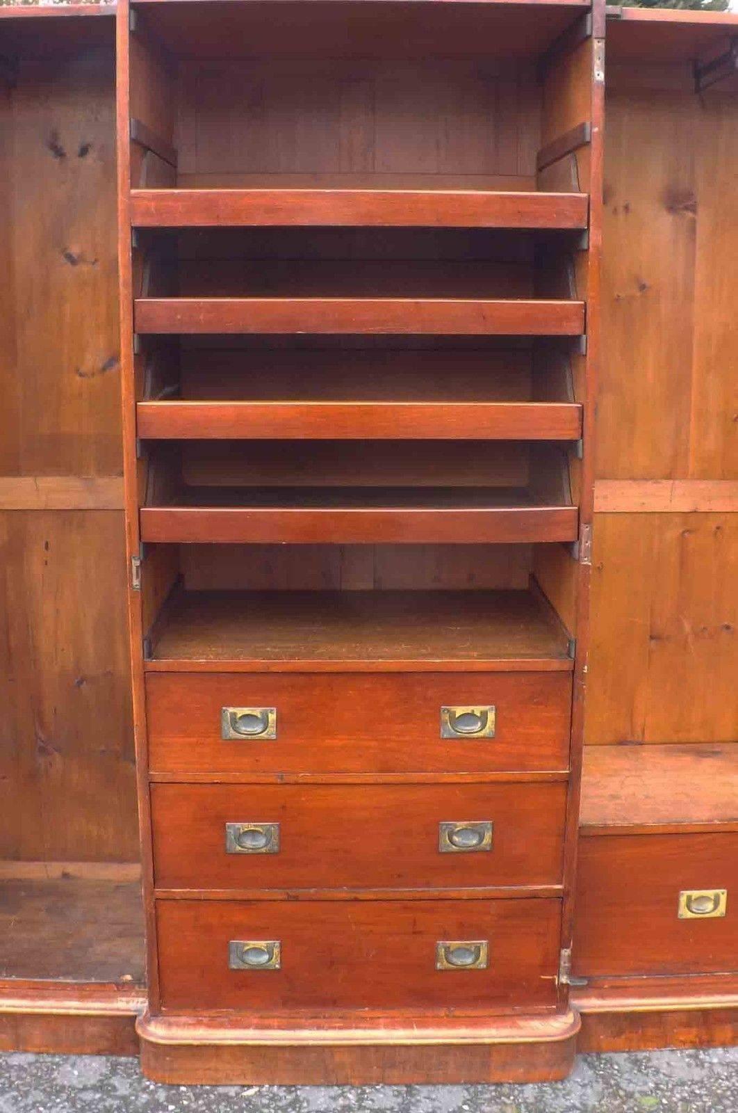 Victorian Mahogany Breakfront Wardrobe For Sale   Antiques with Victorian Mahogany Breakfront Wardrobe (Image 18 of 30)