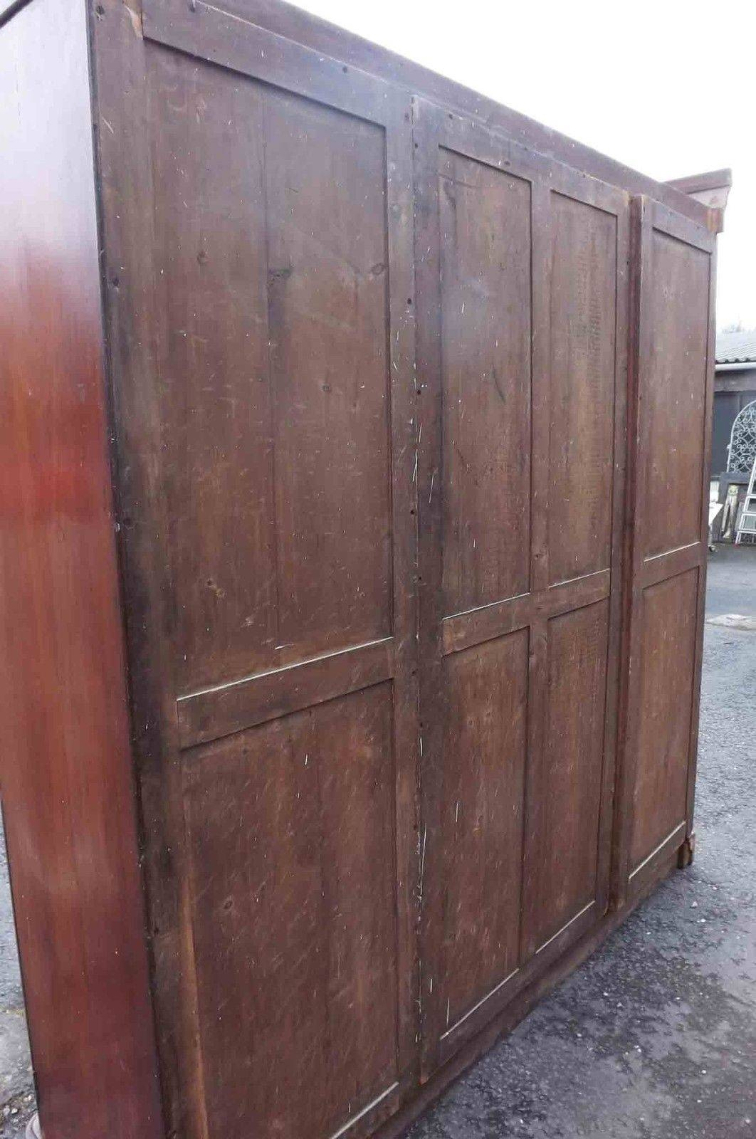 Victorian Mahogany Breakfront Wardrobe For Sale | Antiques within Victorian Mahogany Breakfront Wardrobe (Image 20 of 30)
