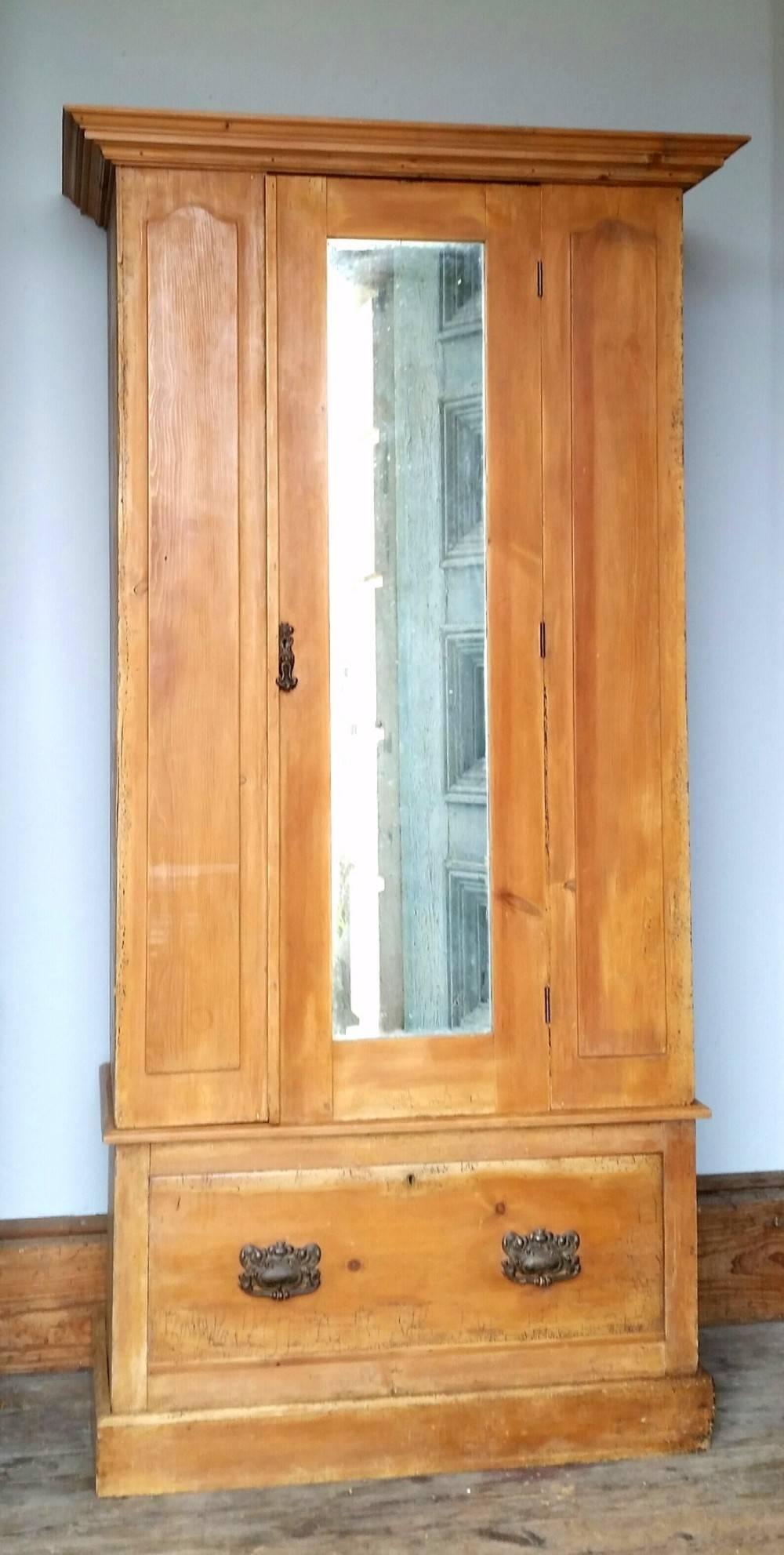 Victorian Pine Wardrobe | 432737 | Sellingantiques.co.uk pertaining to Victorian Pine Wardrobes (Image 14 of 15)