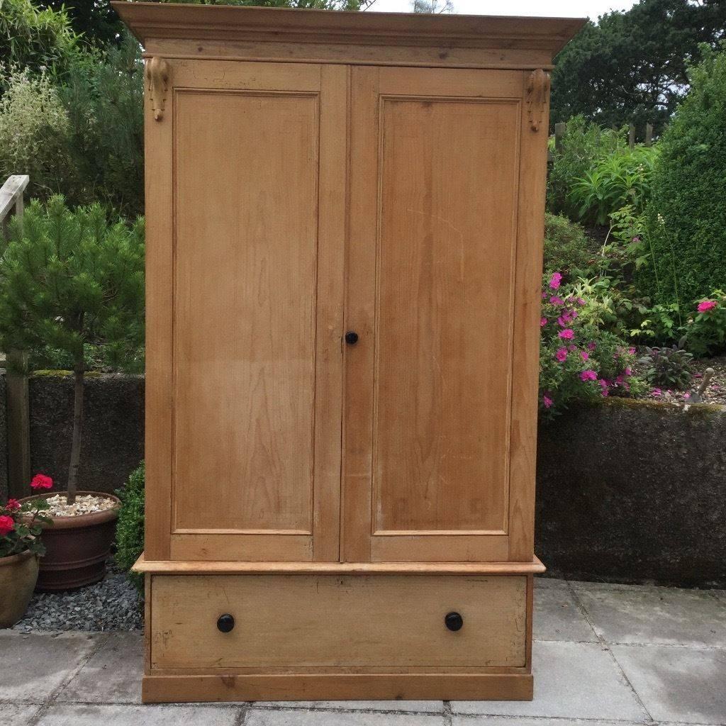 Victorian Pine Wardrobe | In Launceston, Cornwall | Gumtree regarding Victorian Pine Wardrobes (Image 15 of 15)