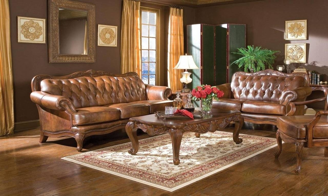 Victorian Style Sofas, Tufted Victorian Leather Sofa Style Brown with regard to Victorian Leather Sofas (Image 30 of 30)