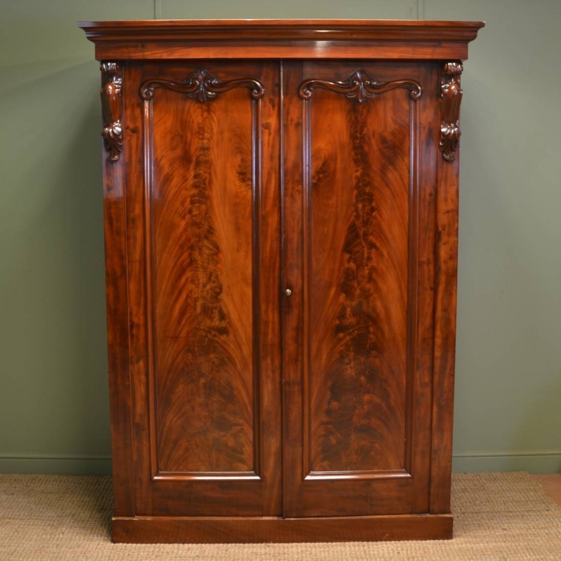 Victorian Wardrobe Images - Reverse Search inside Victorian Mahogany Breakfront Wardrobe (Image 28 of 30)