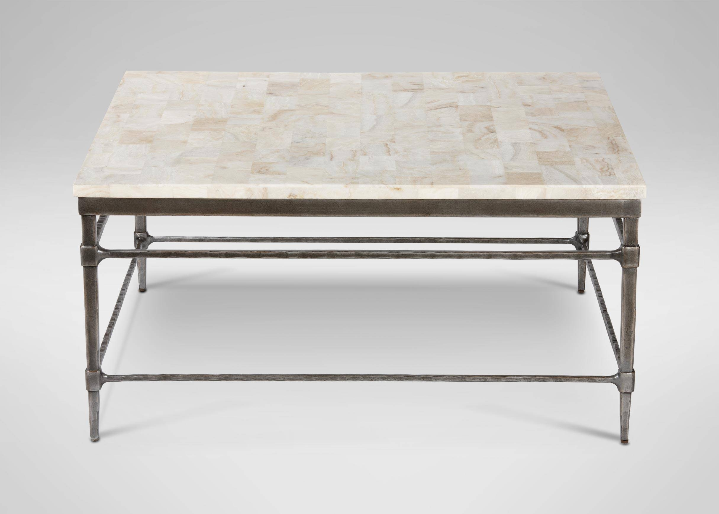 Vida Square Stone-Top Coffee Table | Coffee Tables with Square Stone Coffee Tables (Image 30 of 30)