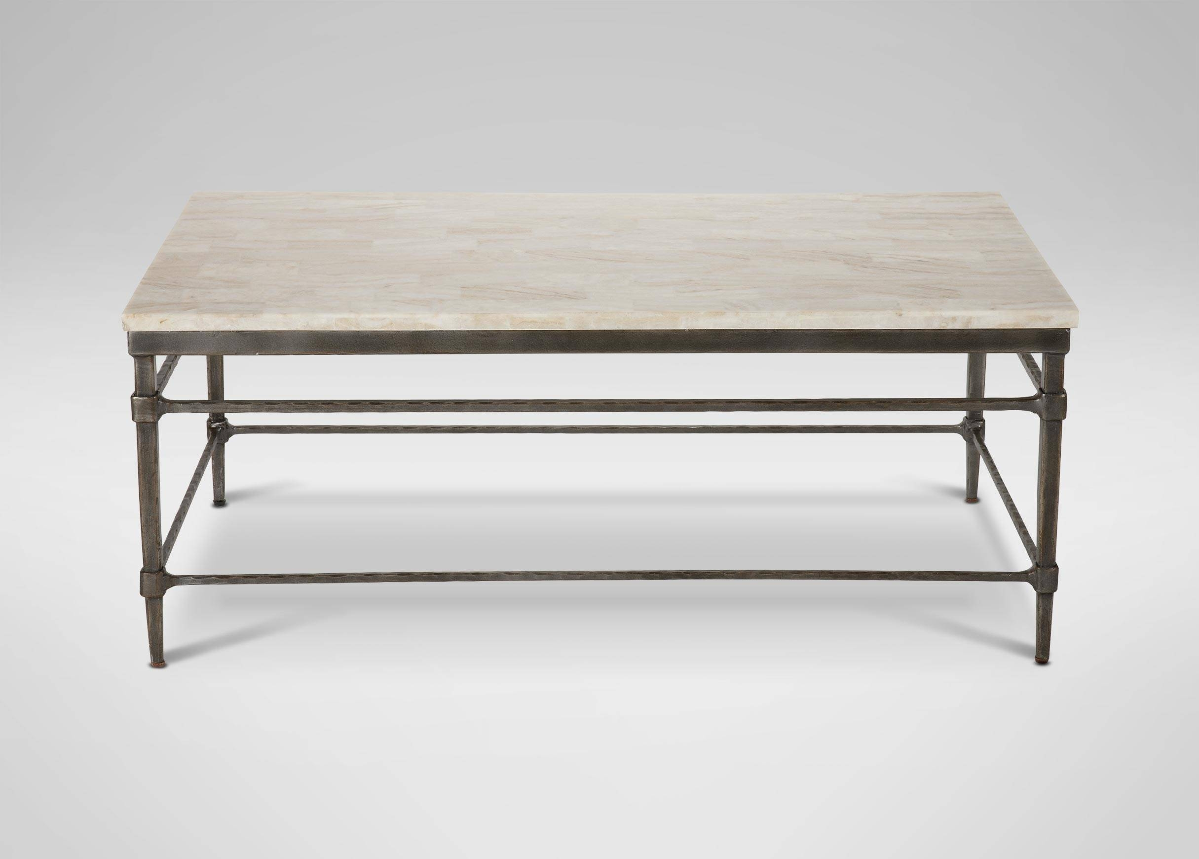 Vida Stone-Top Coffee Table | Coffee Tables with Large Rectangular Coffee Tables (Image 30 of 30)